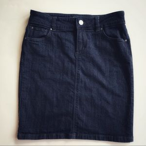 Ann Taylor Mini Denim Skirt Size: 00P